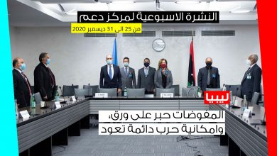 Photo of النشرة الأسبوعية  من 25 الى 31 ديسمبر 2020